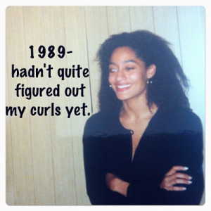 the beginning of Tracee's natural hair exploration!
