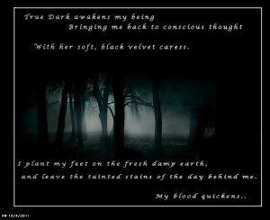 True Dark Dark Poems About Love