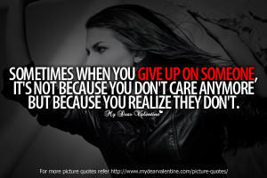 Sad love quotes - Sometimes when you