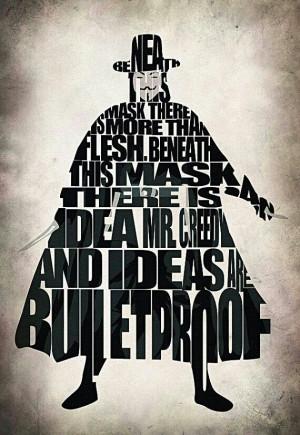 for Vendetta // Typography Silhouette Artwork
