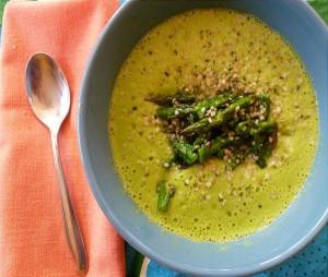 Healthy Cream of Asparagus Soup - Gluten-free