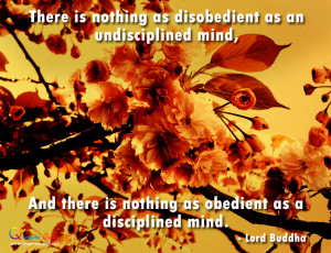 Nothing as obedient as a disciplined mind Lord Buddha Quotes