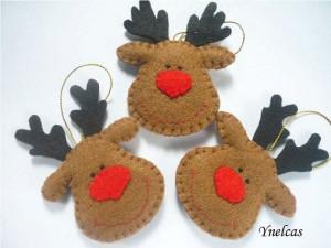 Reindeer ornament-feltChristmas Crafts, Nose Reindeer, Felt Crafts ...