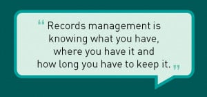 records management quote from rich lauwer