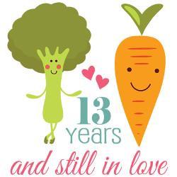 13_year_anniversary_veggie_couple_greeting_card.jpg?height=250&width ...