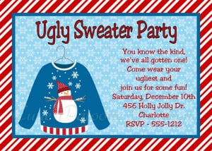 Ugly Sweater Party Invitation - Printable Digital