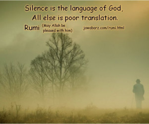 rumi quotes on silence & God