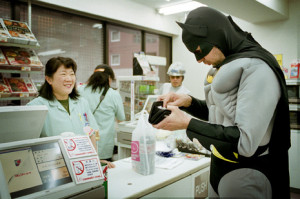 batman, cashier, costume, funny, haha - image #137113 on Favim.com