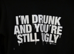 drunk, lol, print, t-shirt, ugly