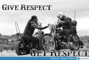 Give respect, get respect