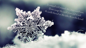 Snowflake picture with a quote by Boris Pasternak
