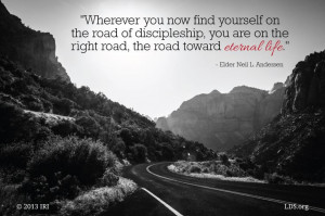 ... the right road, the road toward eternal life.