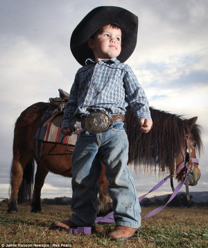 Little Royce Gill, from New South Wales, Australia is pictured here ...
