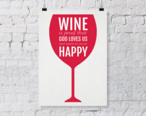 Wine printable, wine download, wine quote digital, wine art digital ...