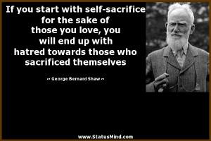 Self Sacrifice Quotes