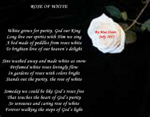 White Rose Love Poem