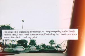 am not good at expressing my feelings…