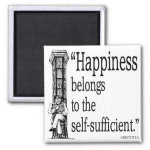 Aristotle Quote - Happiness - Quotes Sayings Fridge Magnets