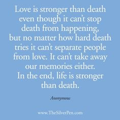 Life is Stronger than Death - Inspirational Picture Quotes About Life ...
