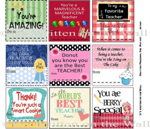 Free Printable}Teacher Appreciation Notes & Gift Ideas