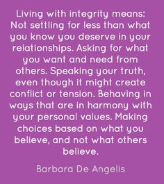 Personal Integrity Quotes | Personal Responsibility: Get Some – A ...