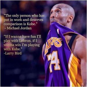 Words from Michael Jordan and Larry Bird!