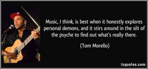 Music, I think, is best when it honestly explores personal demons, and ...