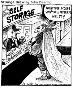 Funny Pictures and Illustrations in Self Storage