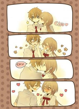 Anime-kawaii-kiss-love by 666Ayame