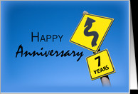 7th Year Business Anniversary, Company, Corporate Congratulations card ...
