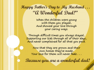 Happy Fathers Day Poems For My Husband