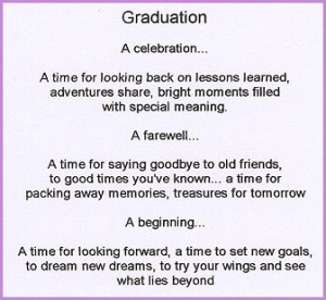 high school graduation poem