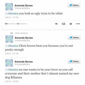 Amanda Bynes slams Rihanna: 'Chris Brown beat you because you're not ...