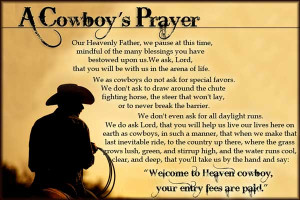 Cowboy's Prayer | F.M. Light and Sons Updates: Sunday Morning ...