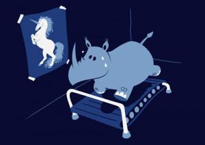 funny rhino unicorn treadmill large