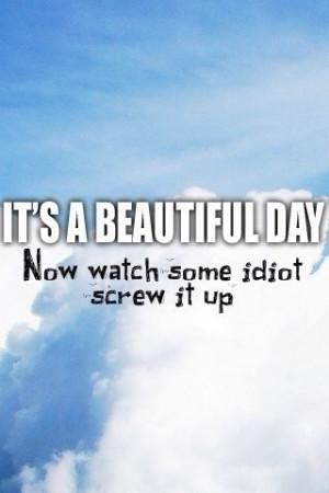 Idiots quote