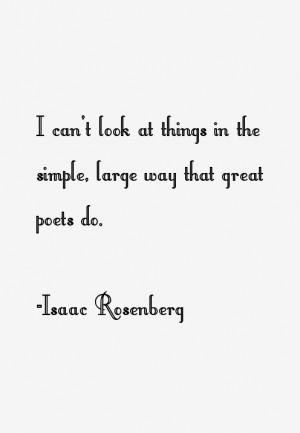 Isaac Rosenberg Quotes amp Sayings
