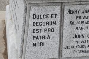 To Our Glorious War Dead: Dulce et Decorum Est Pro Patria Mori