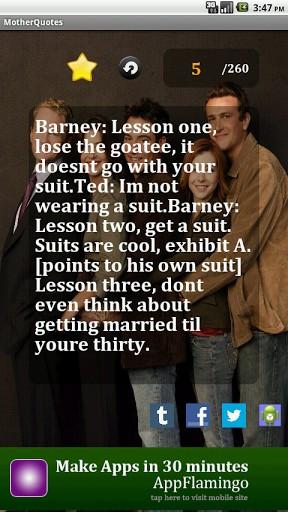 View bigger - How I Met Your Mother Quotes for Android screenshot