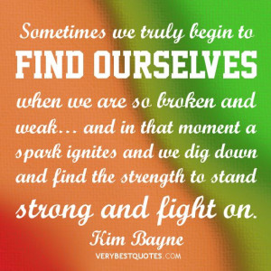 finding being strong quotes