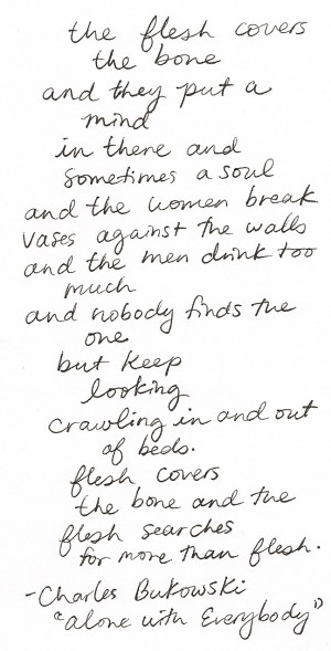 poetry Charles Bukowski wildthicket
