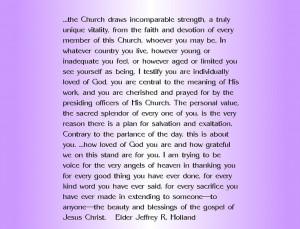 Elder Jeffrey R. Holland quote about LDS women's value...