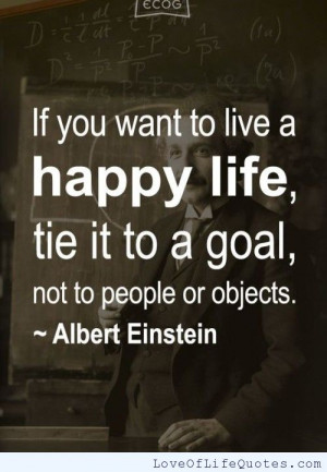 albert einstein quote on living a happy life albert einstein quote ...