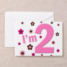 Pink & Brown Flowers Greeting Cards (Pk of for