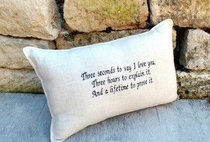 Homesick Quotes And Sayings Love quote embroidered pillow
