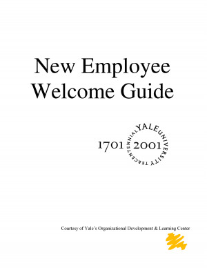 new employee welcome guide yale university library new employee ...
