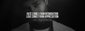 tyga hate love quote facebook cover