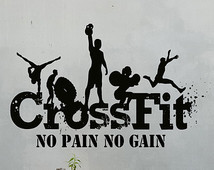 Crossfit Wall Decals Vinyl Home Art Decor Sticker Sport Quote Decal ...