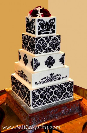 Black & White Damask Wedding Cake – I get a lot of questions about ...