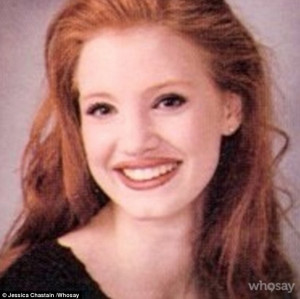 Jessica Chastain shares yearbook photo while urging young fans to ...
